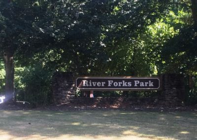 River Forks Park Sign